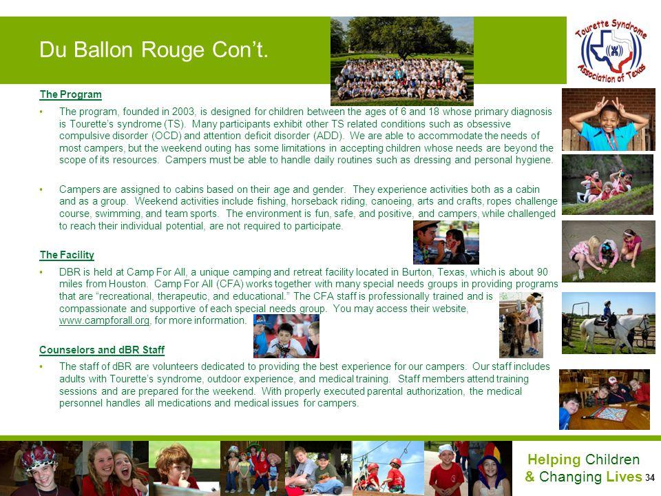 Du Ballon Rouge Con't. The Program