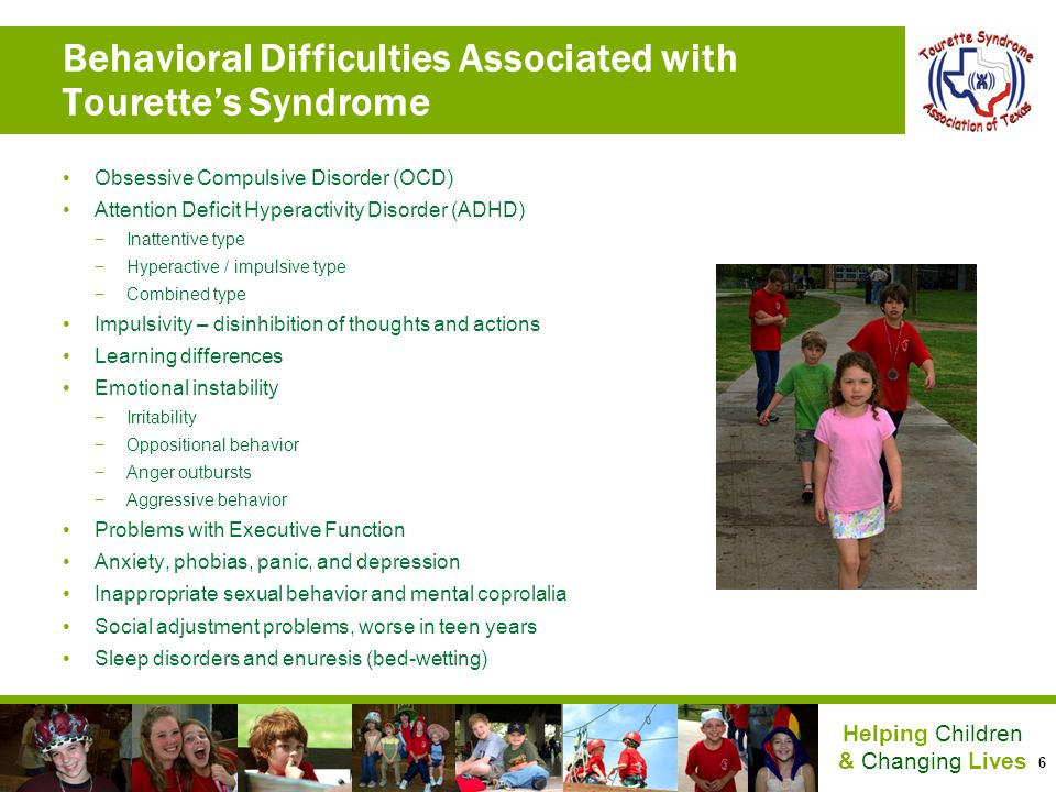 Behavioral Difficulties Associated with Tourette's Syndrome