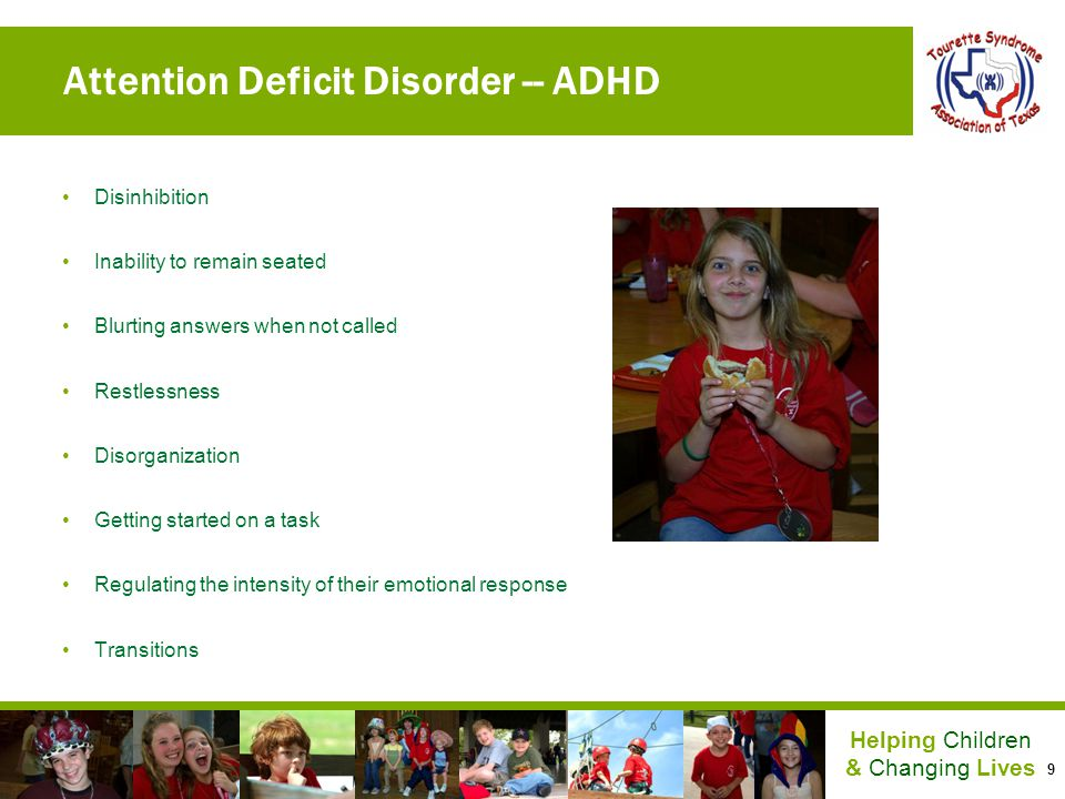 Attention Deficit Disorder -- ADHD