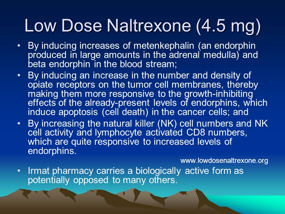 Low Dose Naltrexone (4.5 mg)