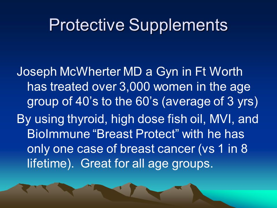 Protective Supplements