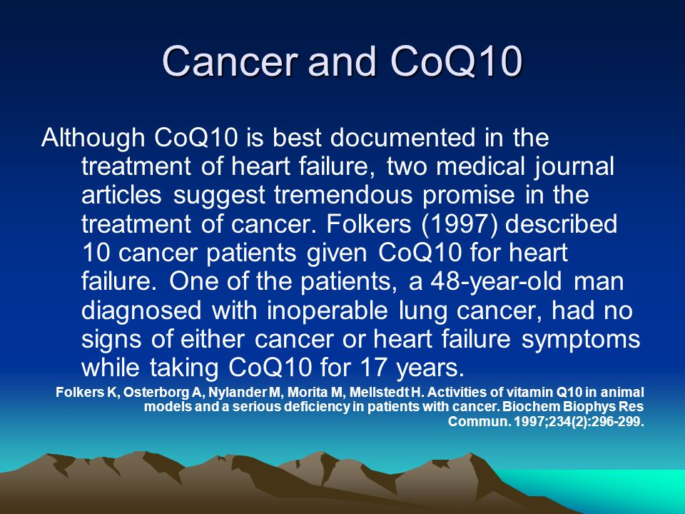 Cancer and CoQ10