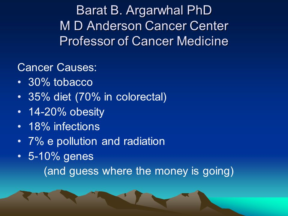 Barat B. Argarwhal PhD M D Anderson Cancer Center Professor of Cancer Medicine