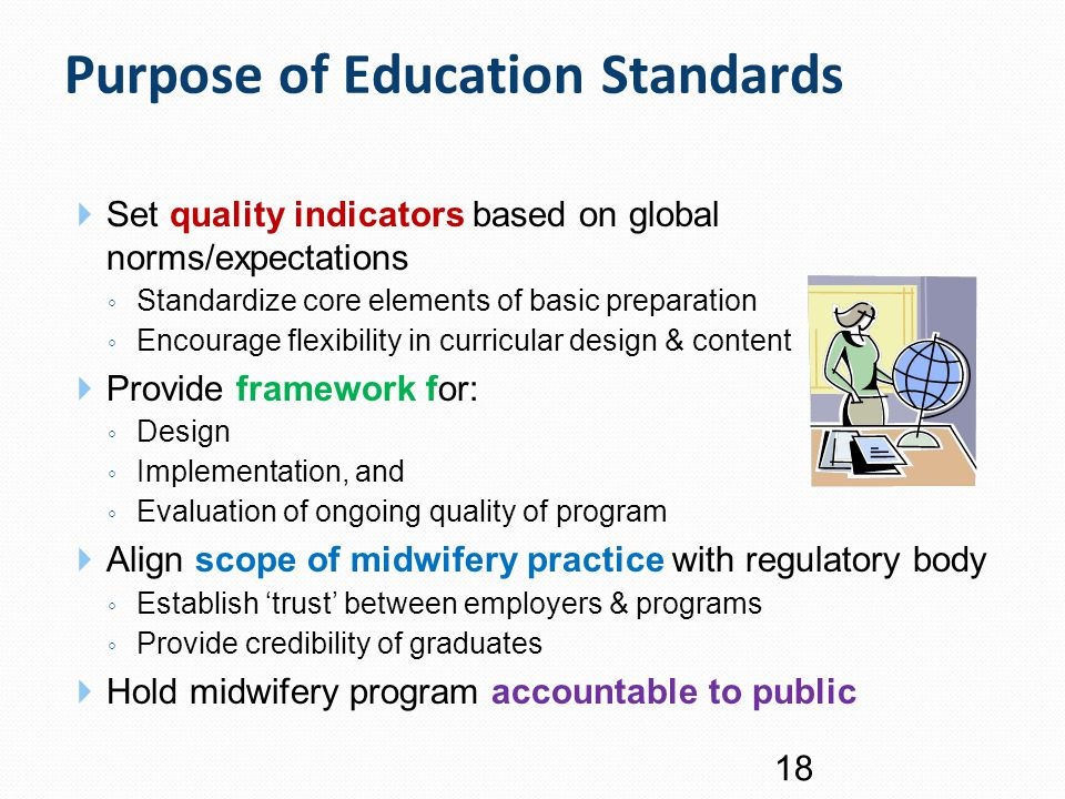 Purpose of Education Standards