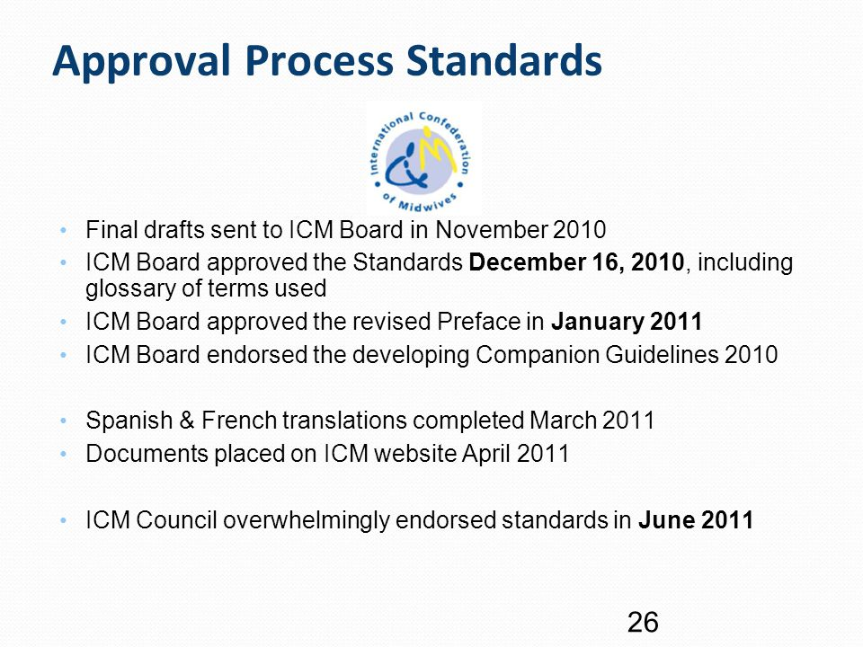 Approval Process Standards