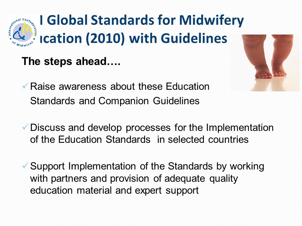 ICM Global Standards for Midwifery Education (2010) with Guidelines