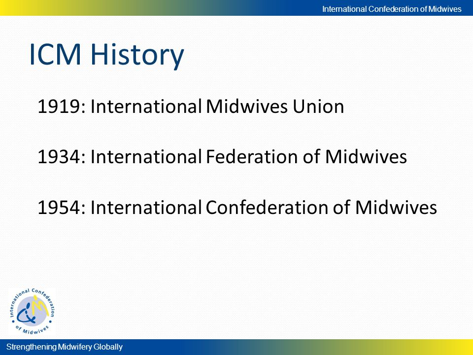 ICM History 1919: International Midwives Union