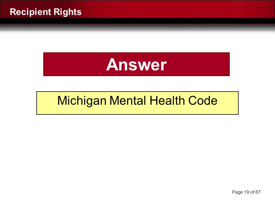 Michigan Mental Health Code