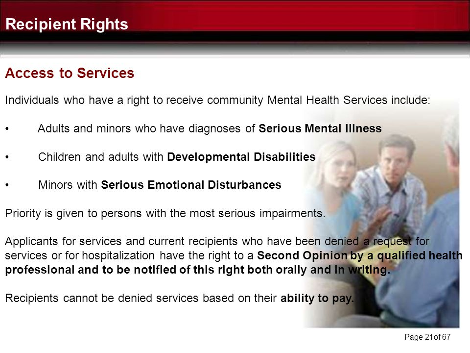 Recipient Rights Access to Services