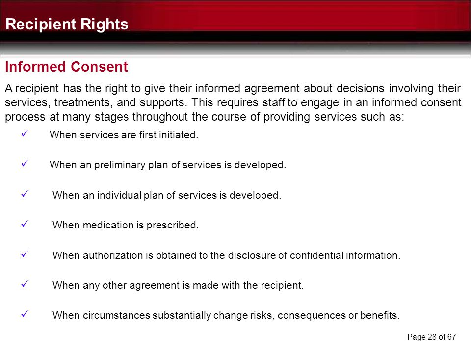 Recipient Rights Informed Consent