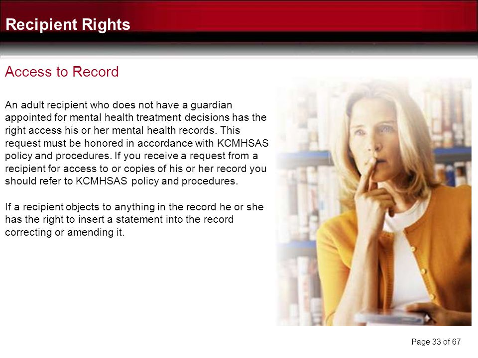 Recipient Rights Access to Record