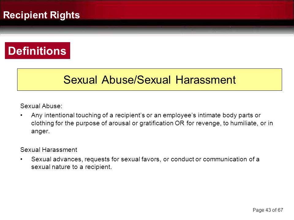Sexual Abuse/Sexual Harassment
