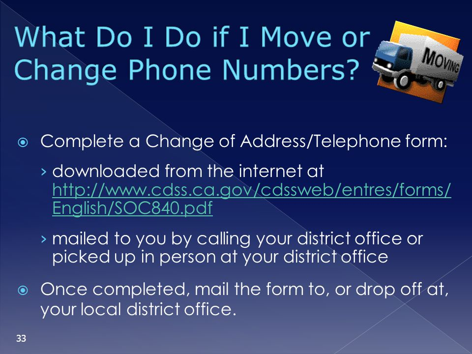 What Do I Do if I Move or Change Phone Numbers