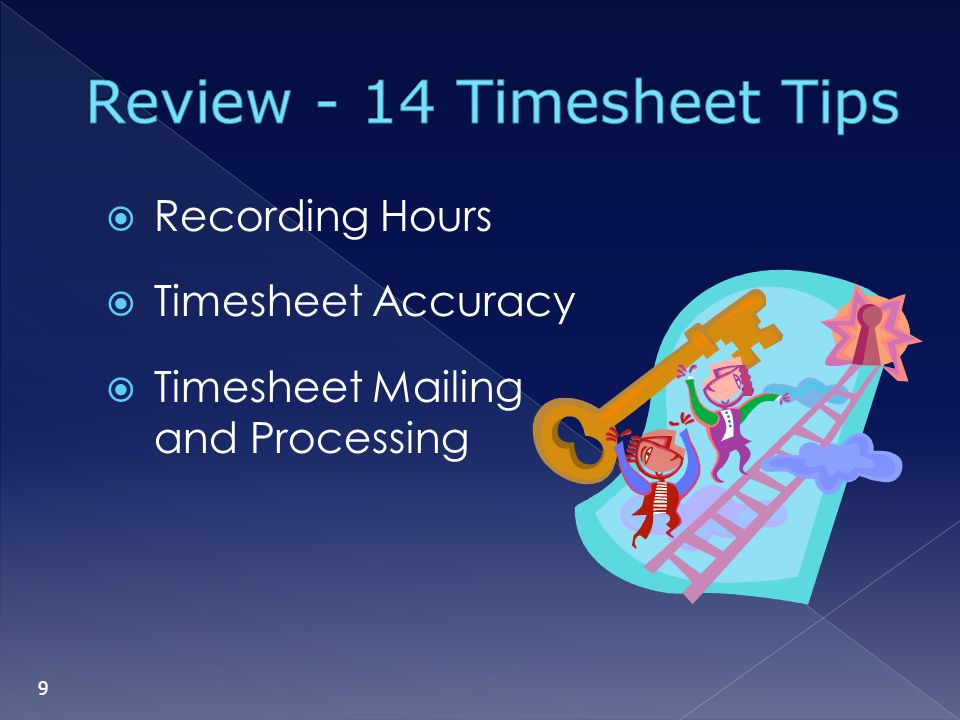 Review - 14 Timesheet Tips