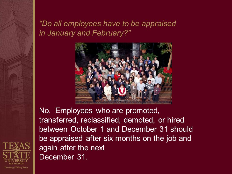 Do all employees have to be appraised
