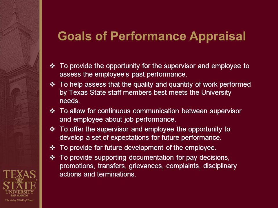 Goals of Performance Appraisal