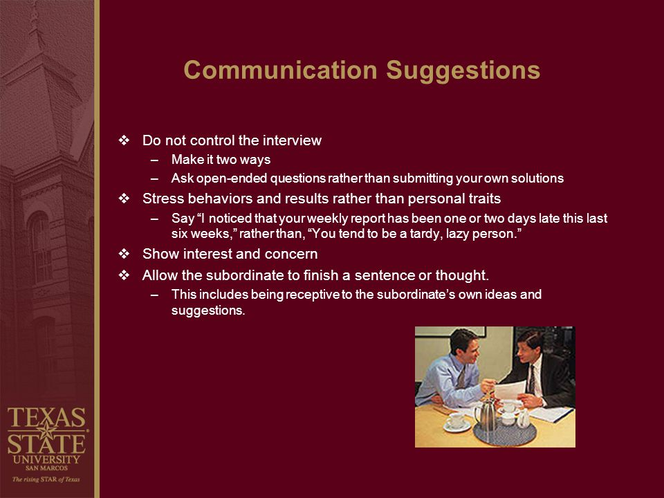 Communication Suggestions