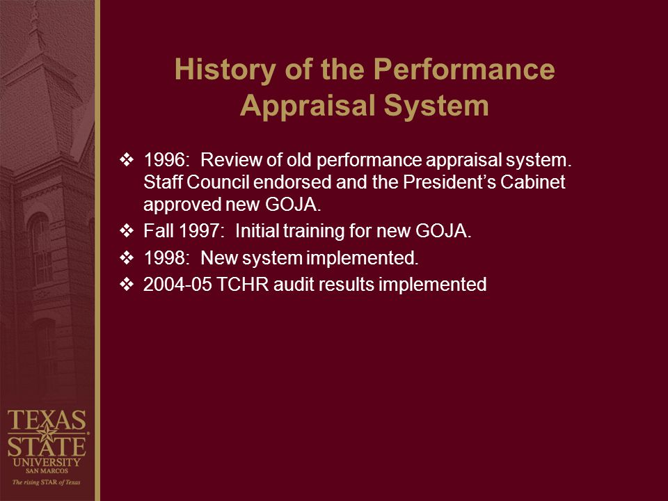 History of the Performance Appraisal System