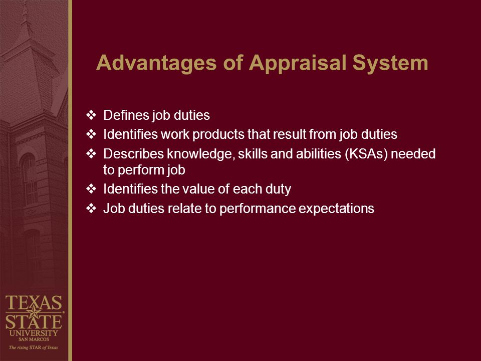 Advantages of Appraisal System