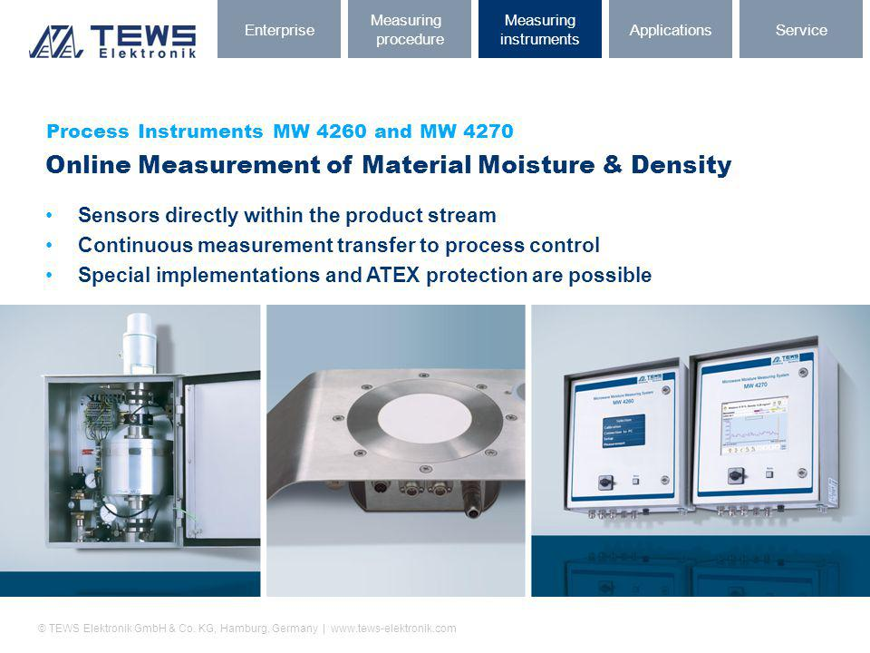 Online Measurement of Material Moisture & Density
