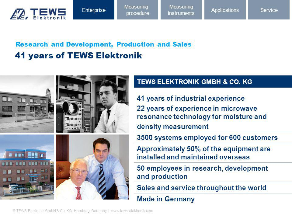 41 years of TEWS Elektronik