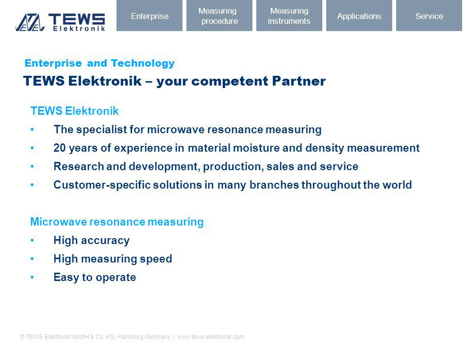 TEWS Elektronik – your competent Partner