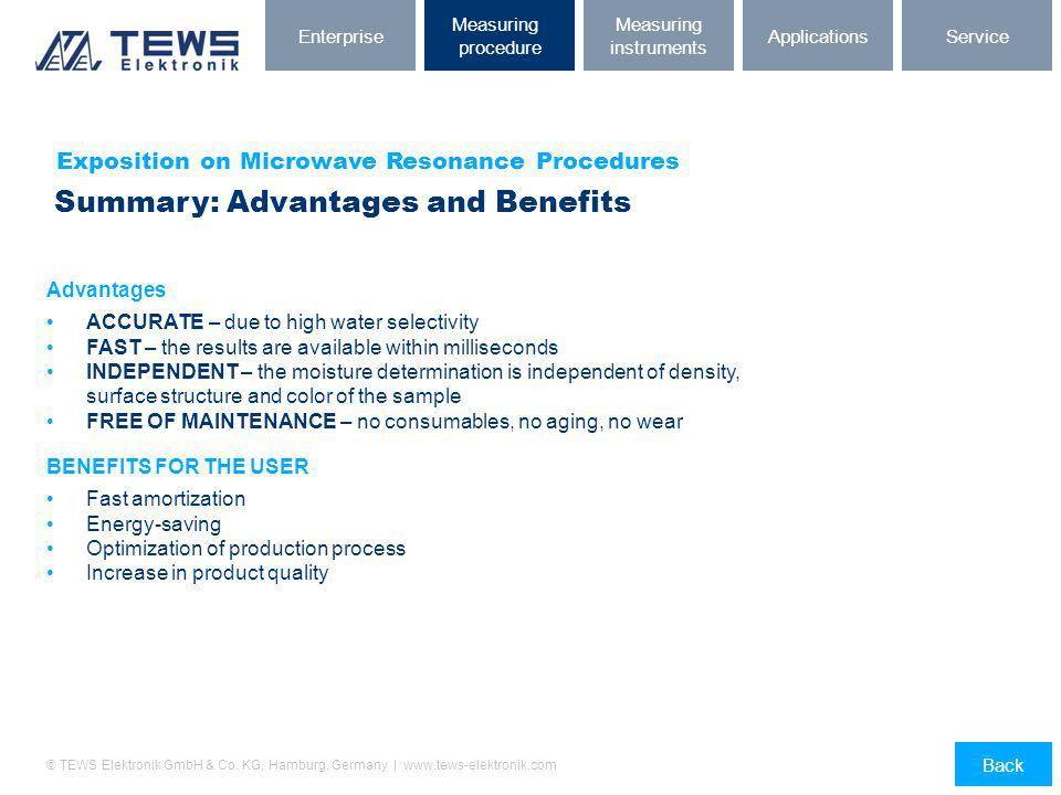 Summary: Advantages and Benefits
