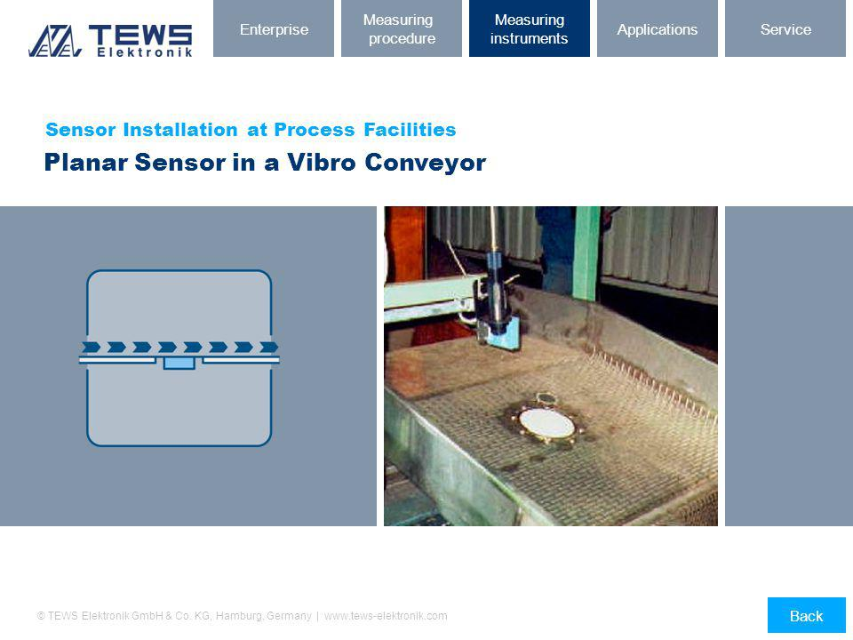 Planar Sensor in a Vibro Conveyor