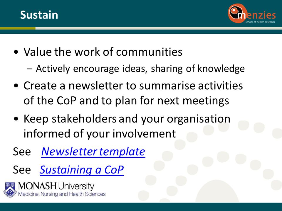 Value the work of communities