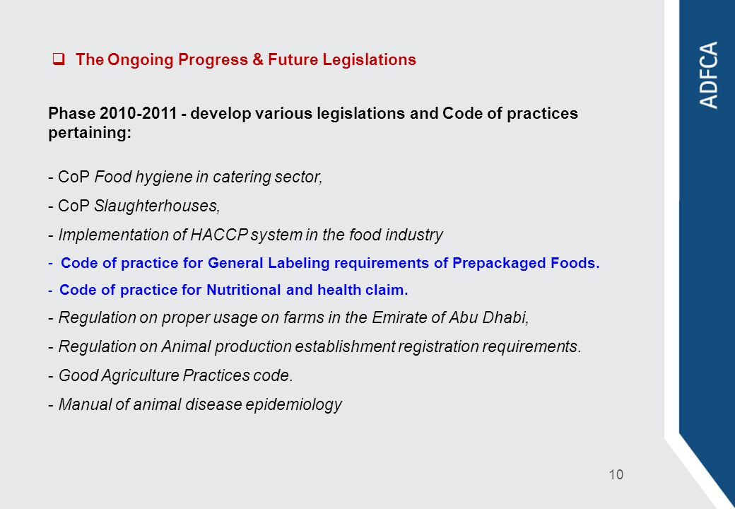 The Ongoing Progress & Future Legislations
