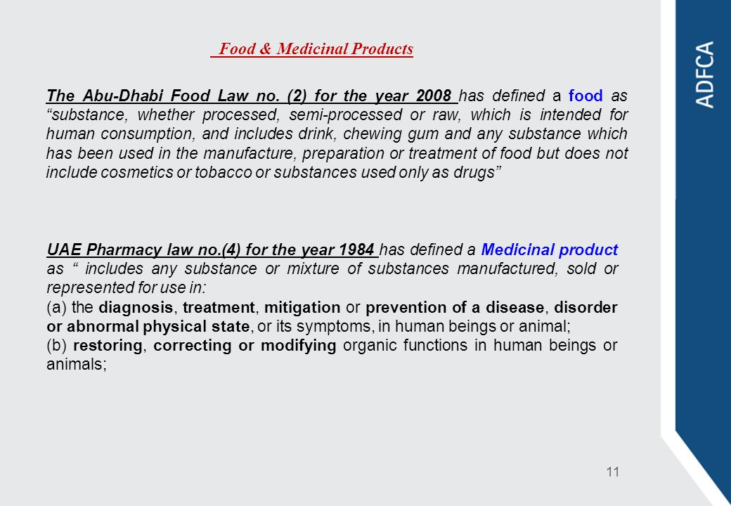 Food & Medicinal Products