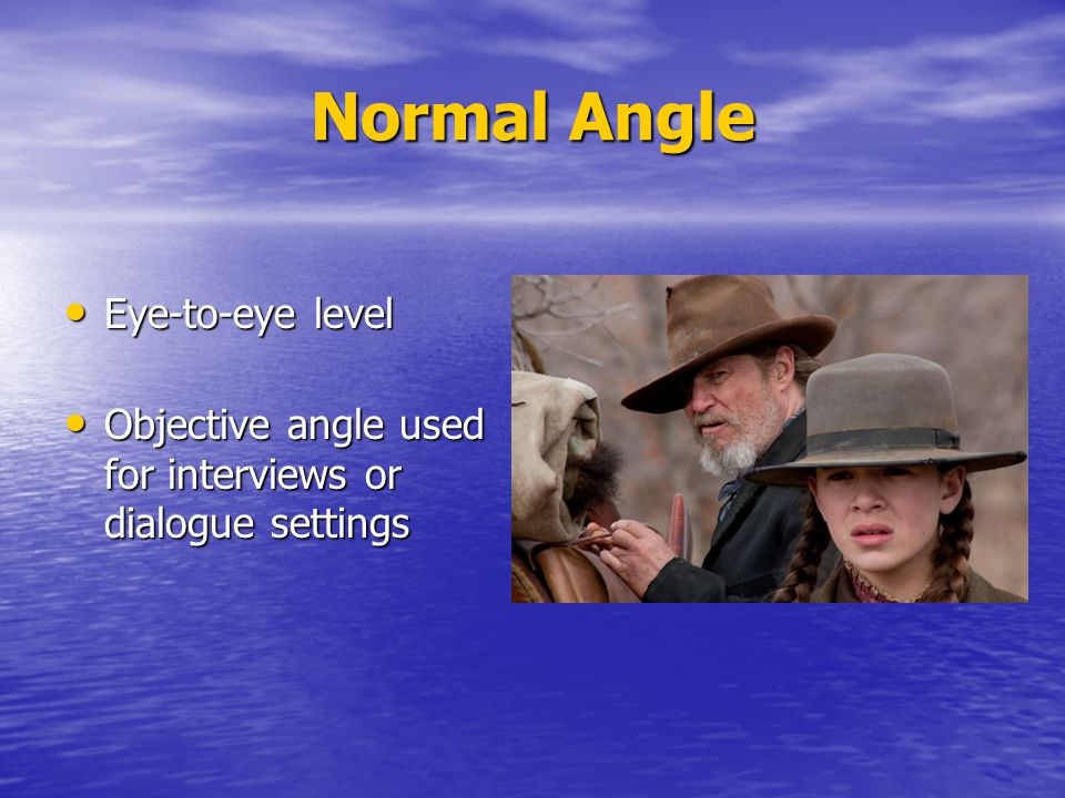 Normal Angle Eye-to-eye level