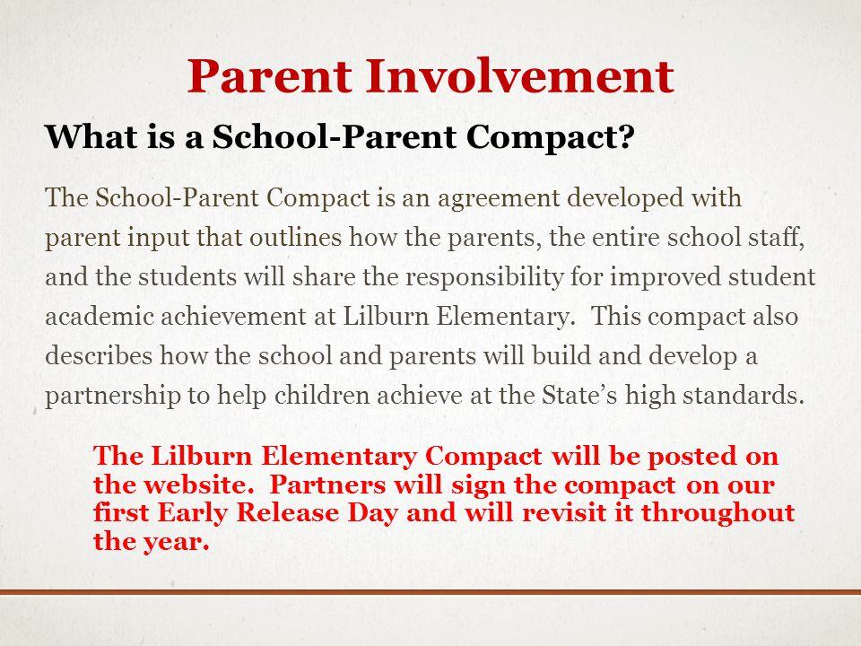 Parent Involvement What is a School-Parent Compact