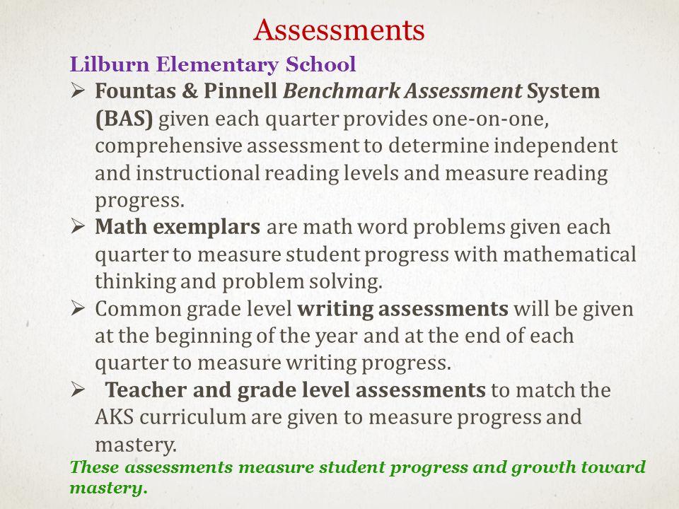Assessments Lilburn Elementary School.