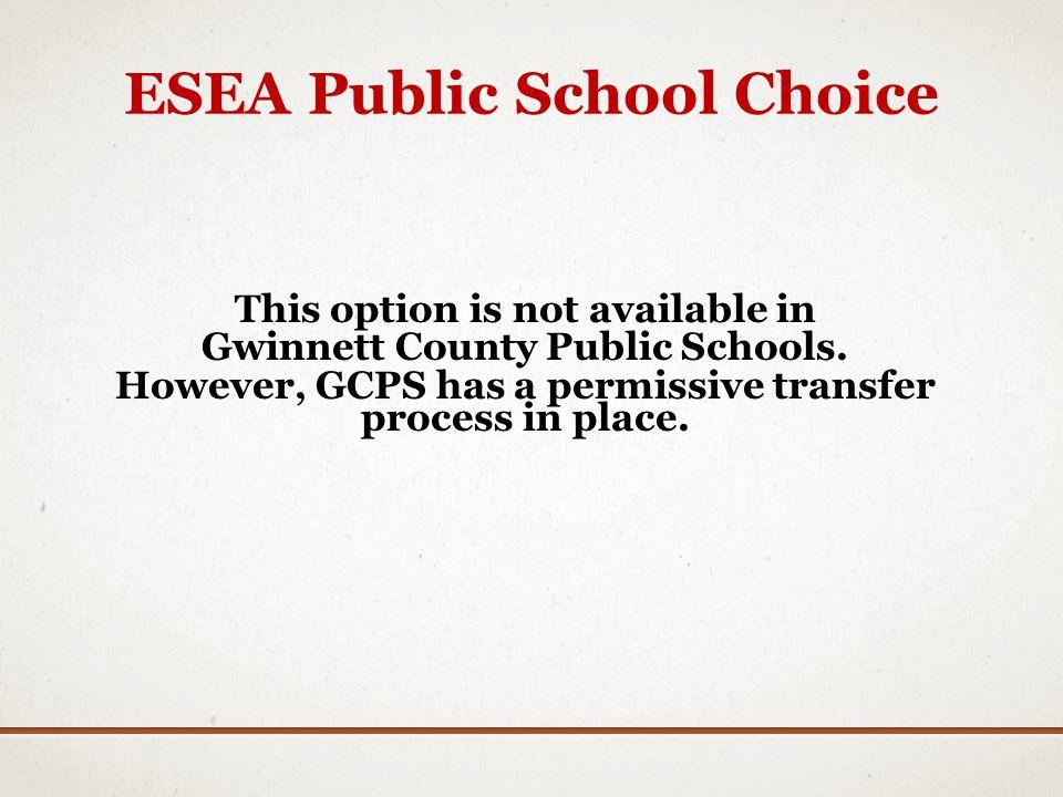 ESEA Public School Choice