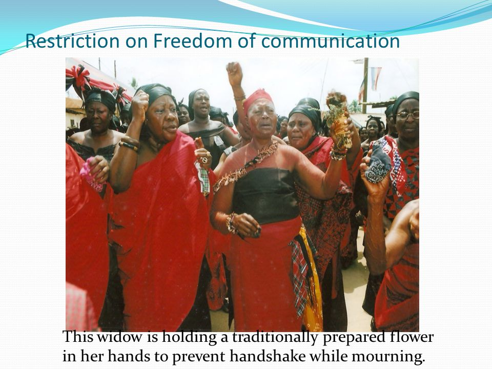 Restriction on Freedom of communication