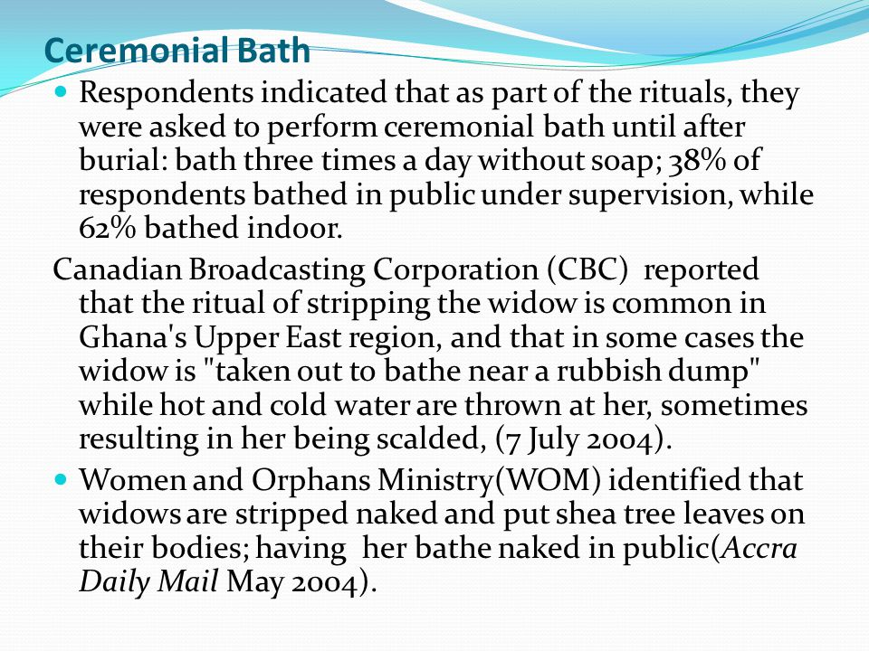 Ceremonial Bath