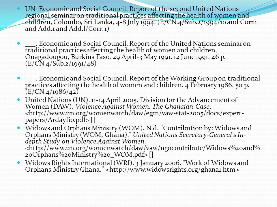 UN Economic and Social Council