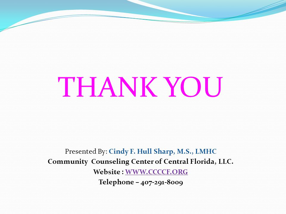 Community Counseling Center of Central Florida, LLC.