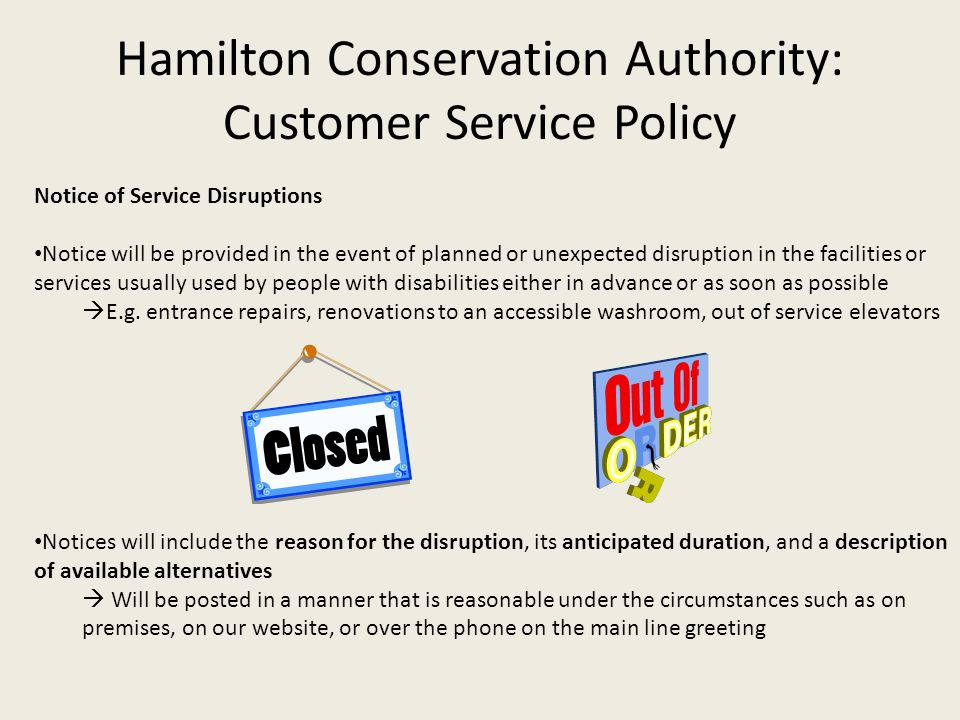 Hamilton Conservation Authority: Customer Service Policy
