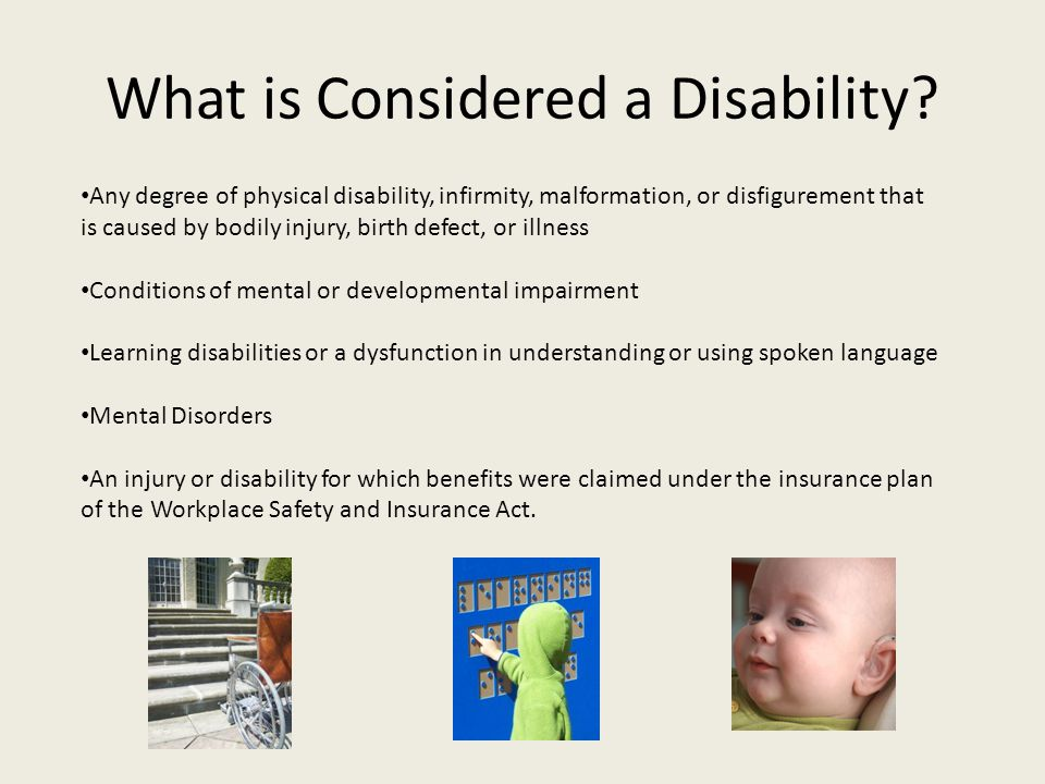 What is Considered a Disability