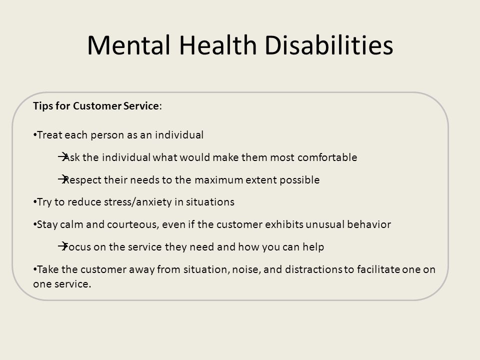 Mental Health Disabilities