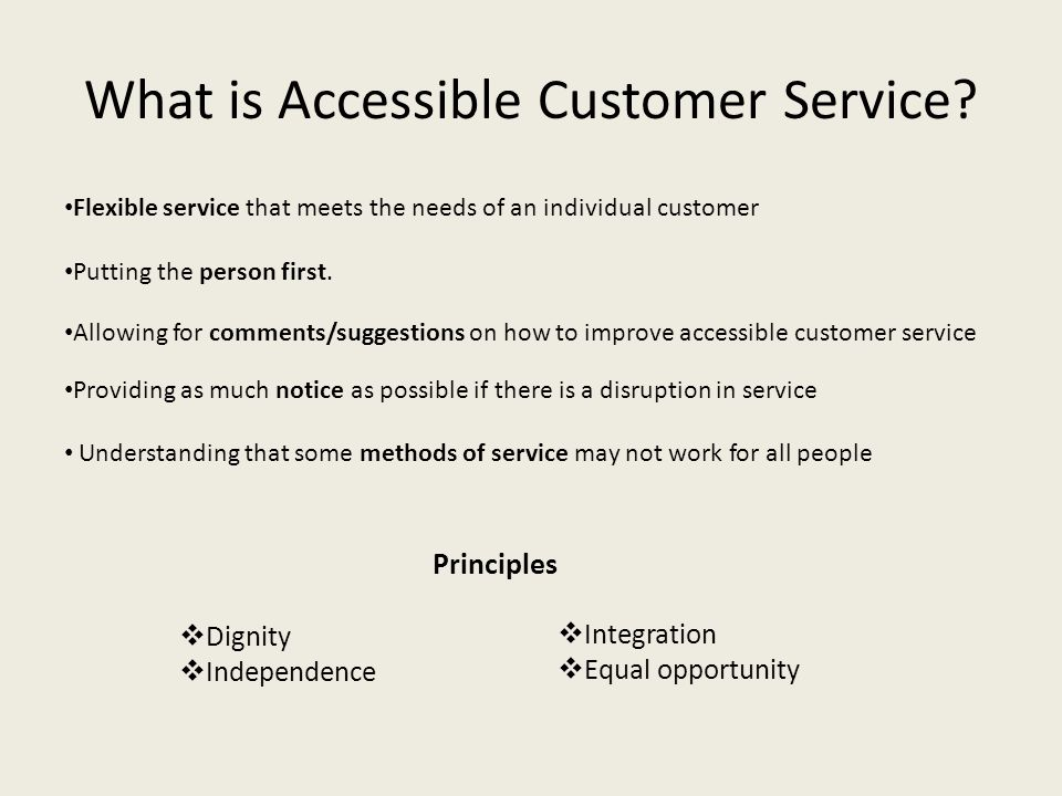 What is Accessible Customer Service