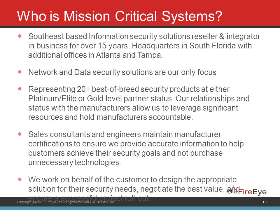 Who is Mission Critical Systems