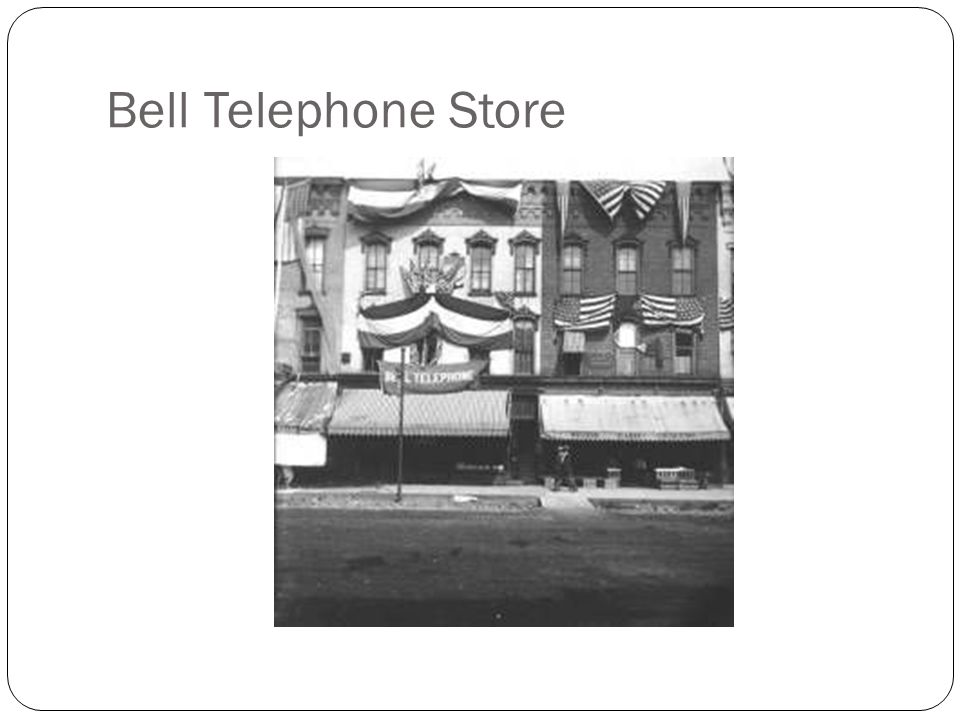Bell Telephone Store