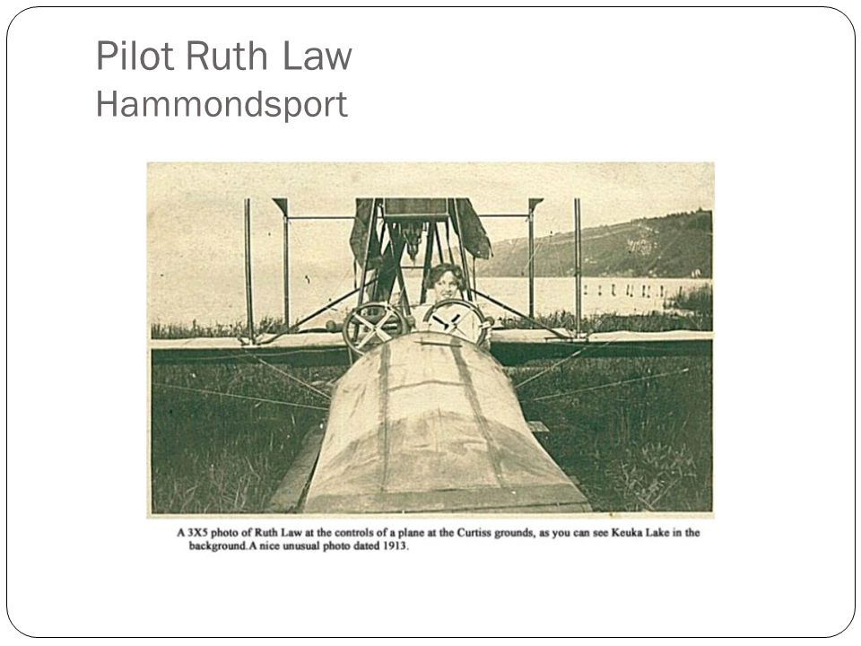 Pilot Ruth Law Hammondsport