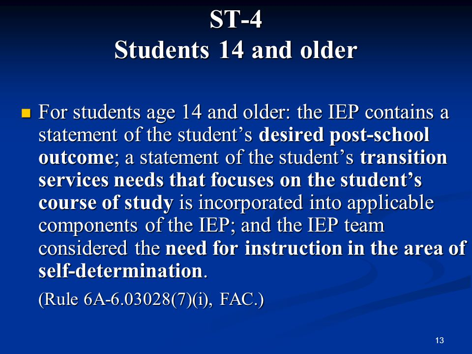 ST-4 Students 14 and older