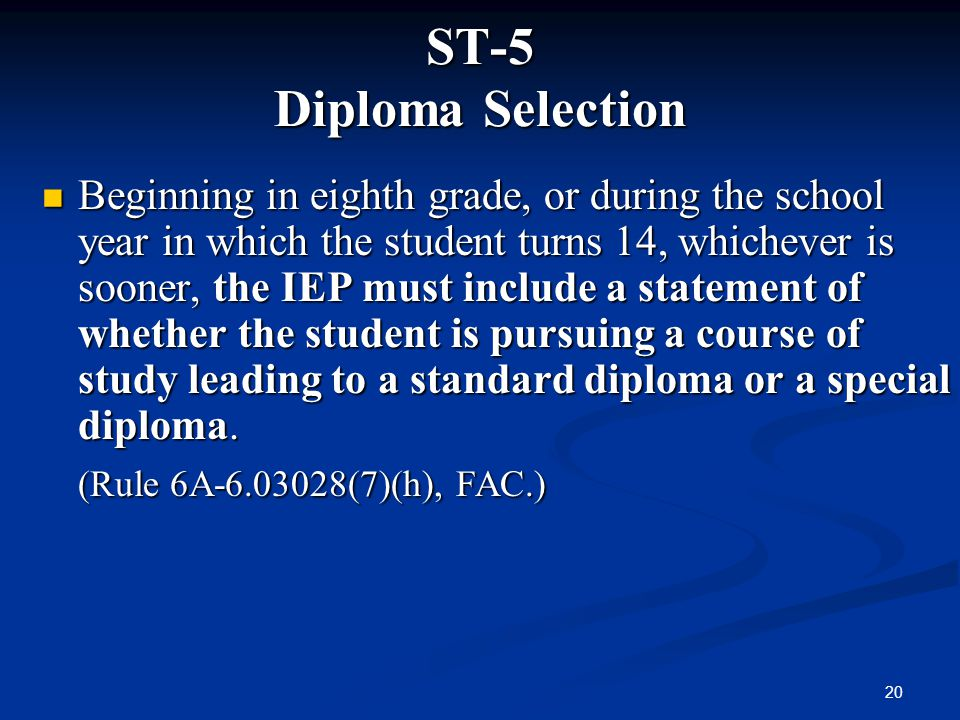 ST-5 Diploma Selection