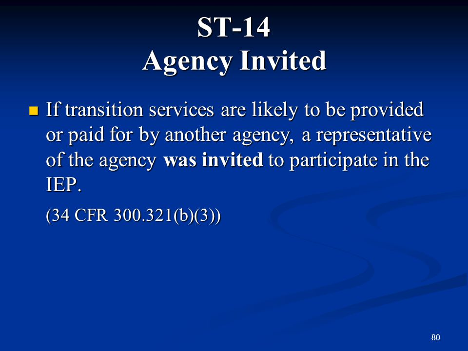 ST-14 Agency Invited