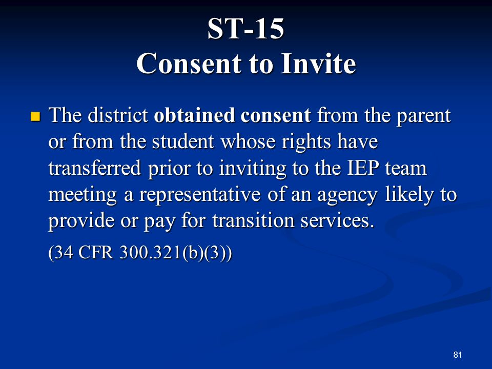 ST-15 Consent to Invite